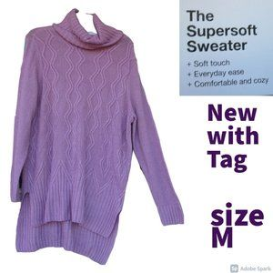 🌹$15ifbundle2NWT supersoft cowlneck tunic sweater